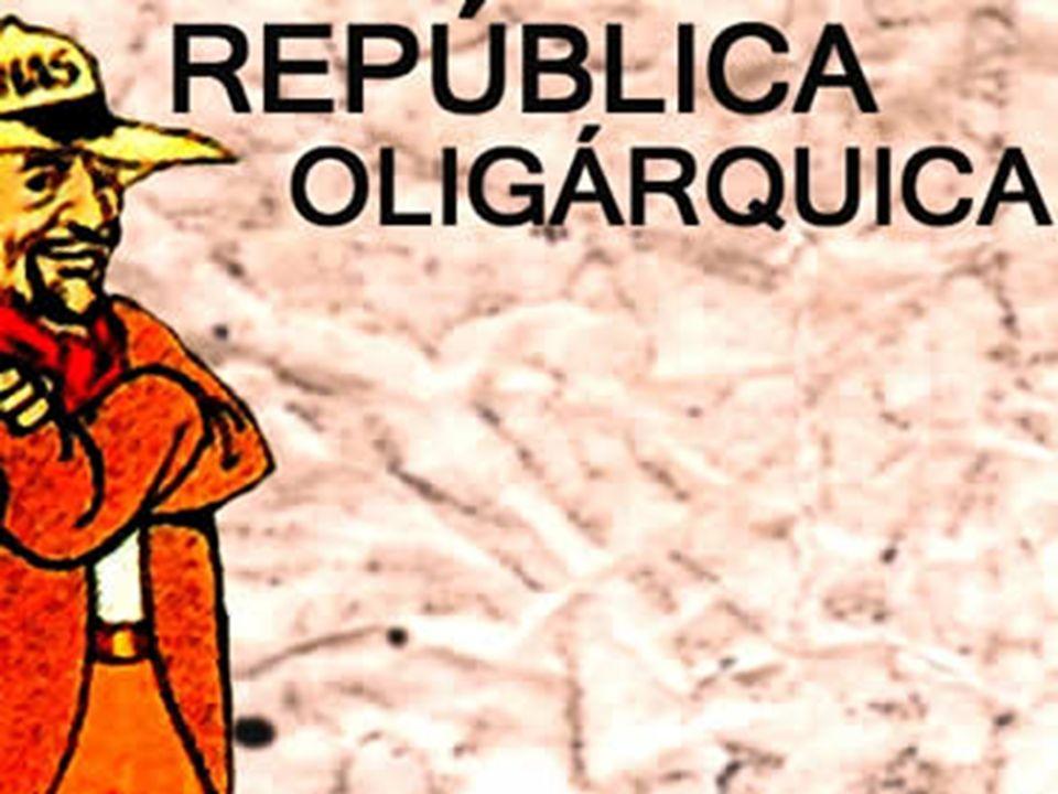 República Oligárquica, república dos Coroneis, República do café com leite (1894-1930).Características: República Oligárquica, república dos Coroneis, República do café com leite (1894-1930).Características: -Domínio político dos fazendeiros.