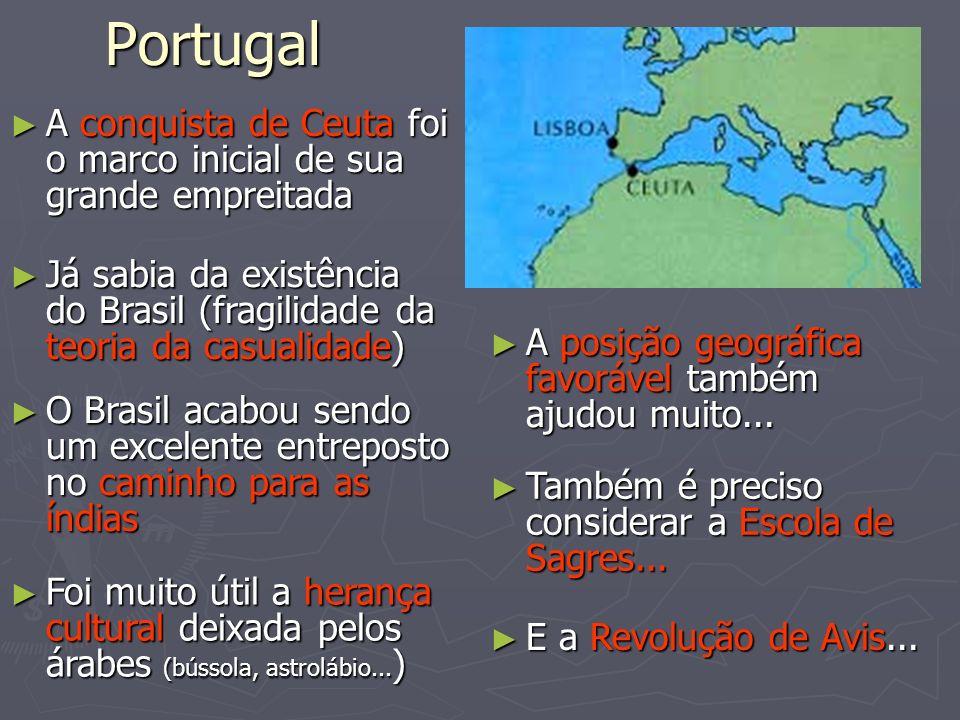 Portugal A conquista de Ceuta foi o marco inicial de sua grande empreitada A conquista de Ceuta foi o marco inicial de sua grande empreitada Já sabia