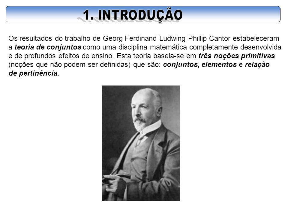 Os resultados do trabalho de Georg Ferdinand Ludwing Phillip Cantor estabeleceram a teoria de conjuntos como uma disciplina matemática completamente d