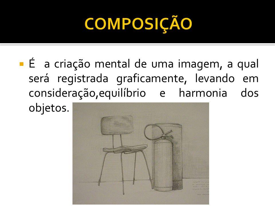 É a criação mental de uma imagem, a qual será registrada graficamente, levando em consideração,equilíbrio e harmonia dos objetos.