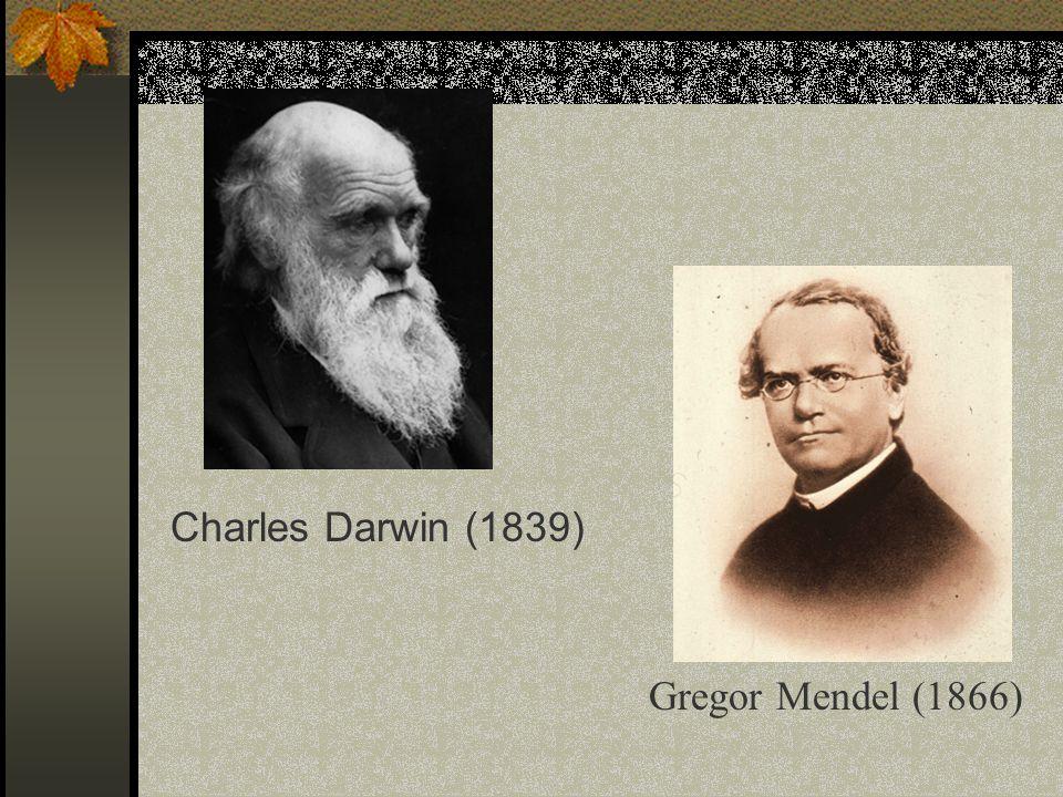 Charles Darwin (1839) Gregor Mendel (1866)
