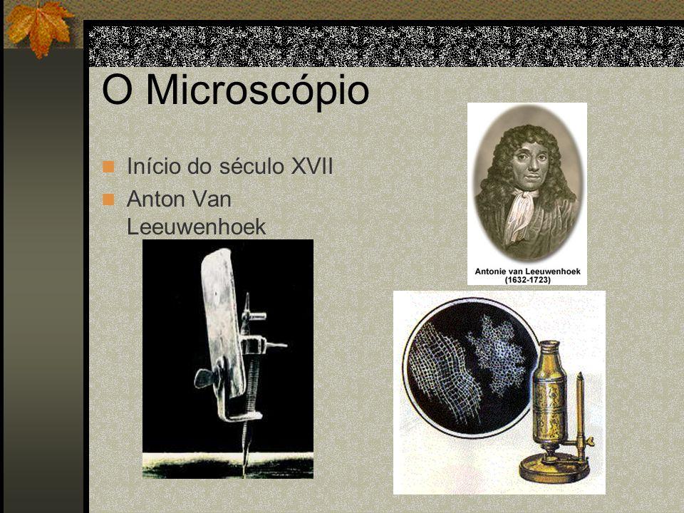 O Microscópio Início do século XVII Anton Van Leeuwenhoek