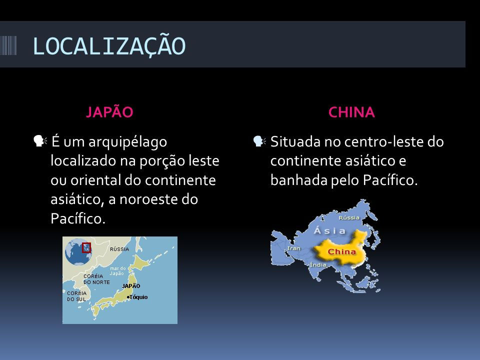 COMPARATIVO JAPÃOCHINA