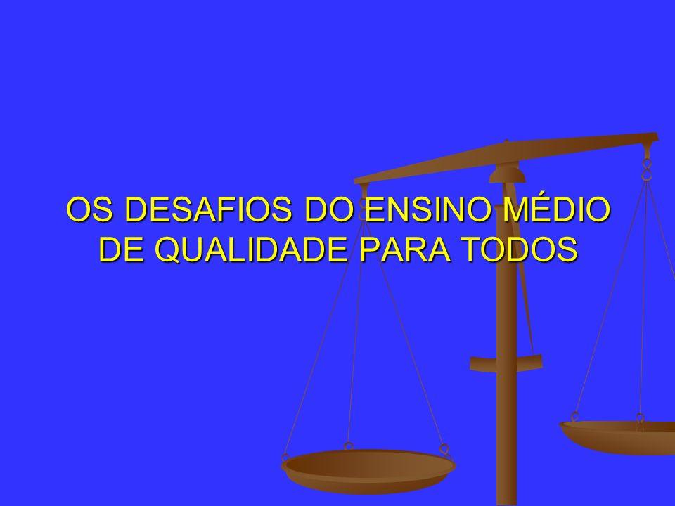Indicadores quantitativos do Ensino médio - O atendimento escolar da população de 15 a 17 anos no Brasil estabilizou-se no patamar um pouco acima de 80%.