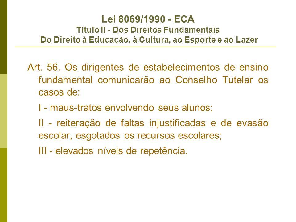 Lei 9.394/1996 - Diretrizes e bases da educação Título I - Da Educação Art.
