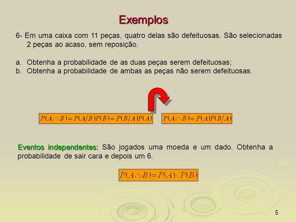6 Probabilidade total e teorema de Bayes Probabilidade Total Probabilidade Total - é a soma das probabilidades conjuntas sobre todos os valores possíveis.