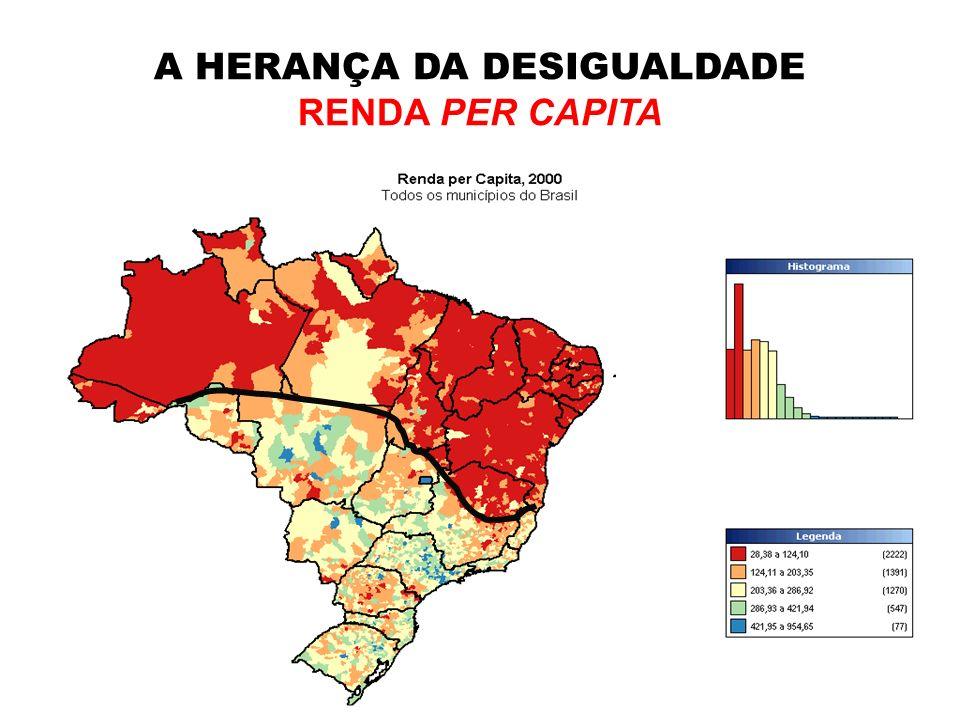 A HERANÇA DA DESIGUALDADE RENDA PER CAPITA