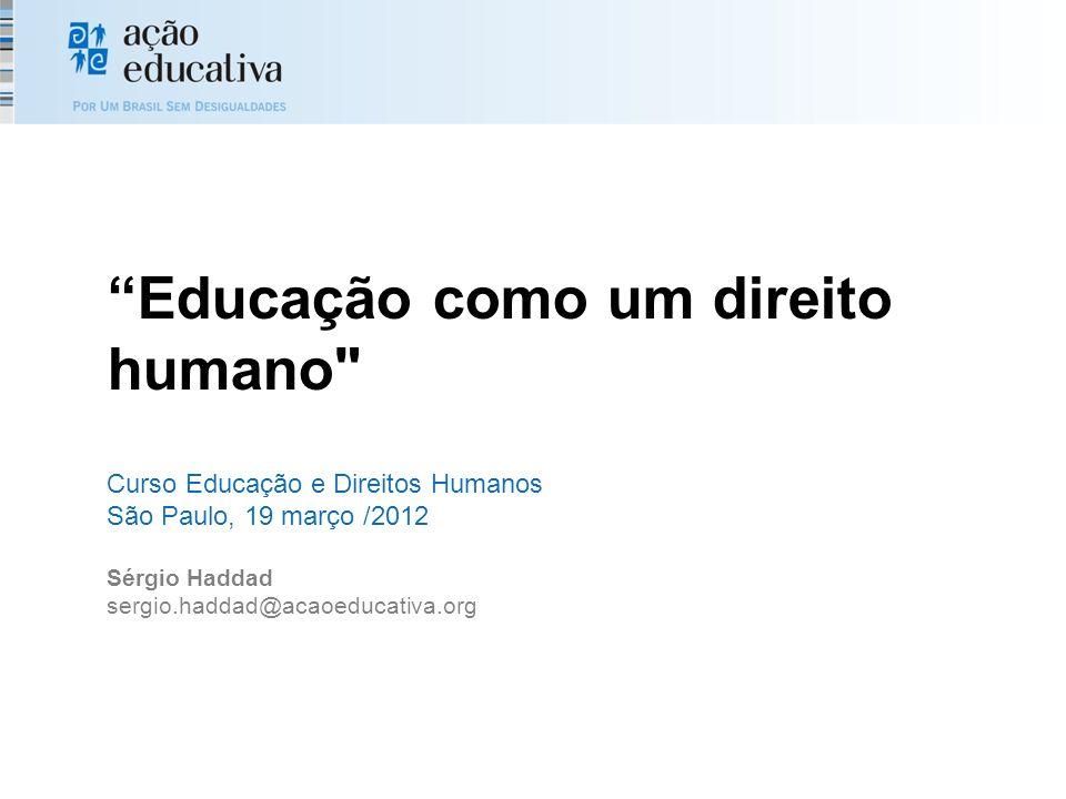 Educação como um direito humano