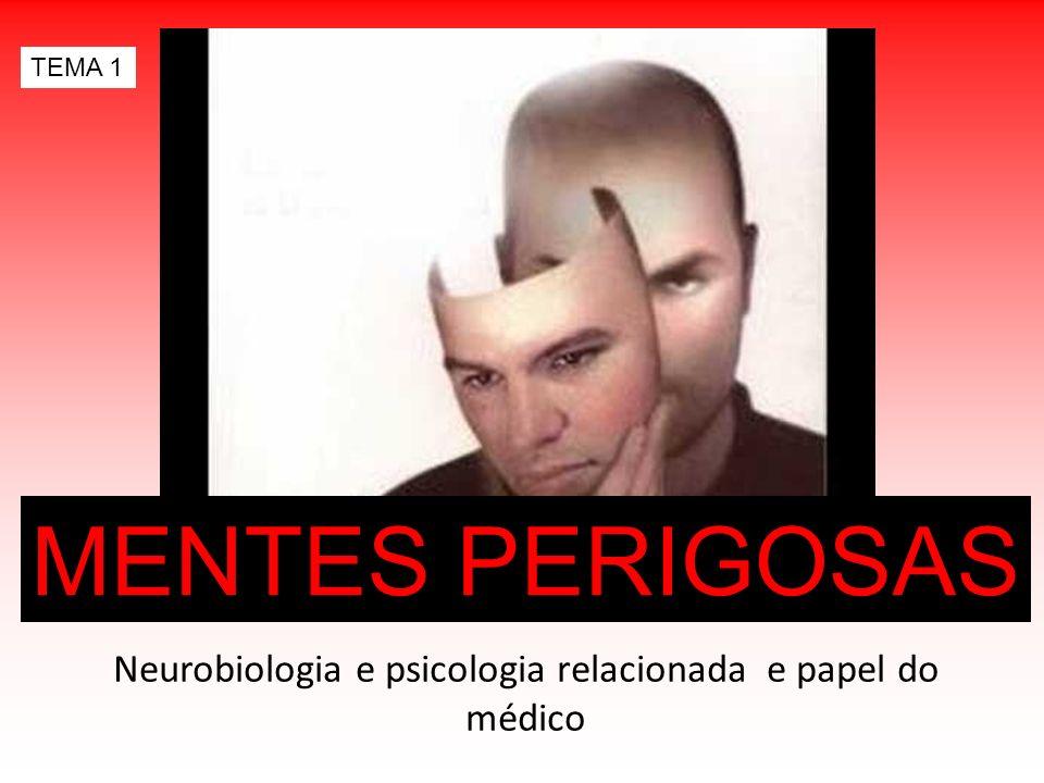 MENTES PERIGOSAS Neurobiologia e psicologia relacionada e papel do médico TEMA 1