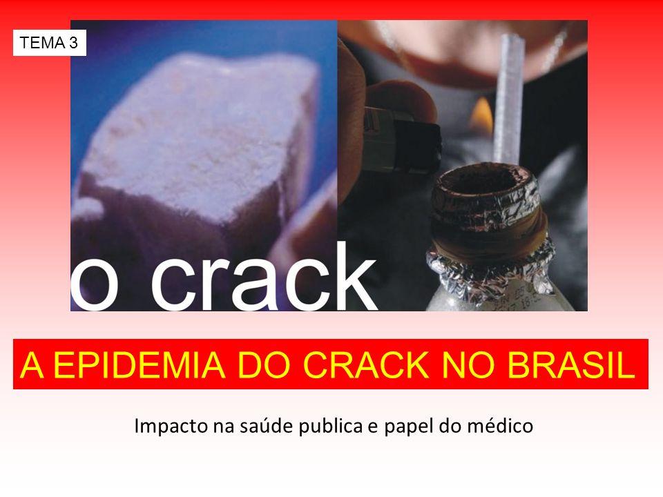 Impacto na saúde publica e papel do médico A EPIDEMIA DO CRACK NO BRASIL TEMA 3