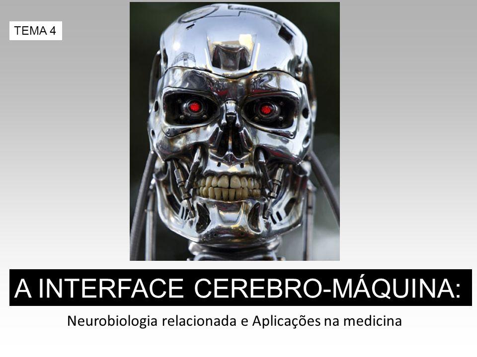 Neurobiologia relacionada e Aplicações na medicina A INTERFACE CEREBRO-MÁQUINA: TEMA 4