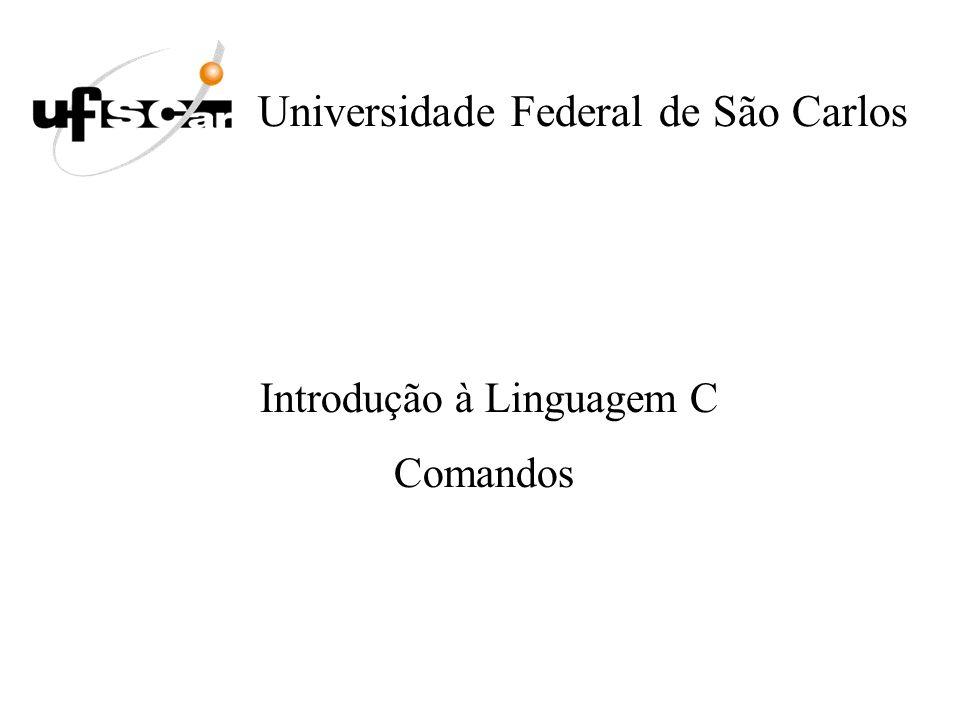 Universidade Federal de São Carlos Introdução à Linguagem C Comandos