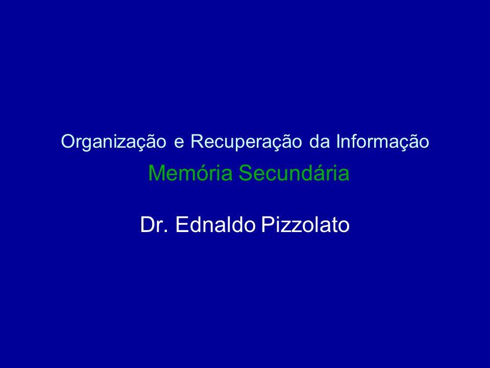 Organização e Recuperação da Informação Memória Secundária Dr. Ednaldo Pizzolato