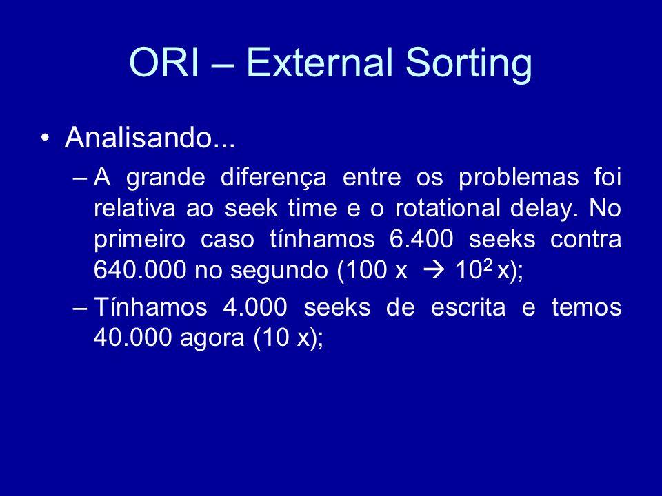 ORI – External Sorting Analisando...