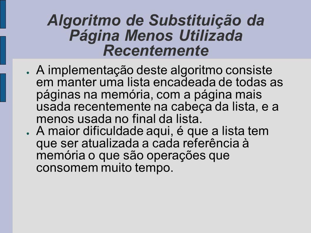 Segmentação A paginação implementa um amplo espaço linear numa memória física limitada, onde os programas são executados num segmento contínuo de memória.
