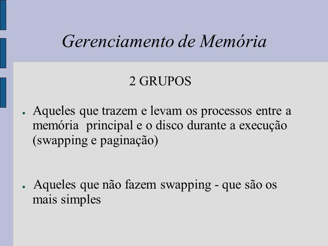 Monoprogramação O esquema de gerenciamento de memória mais simples possível é ter apenas um processo na memória por vez e permitir que esse processo use toda a memória.