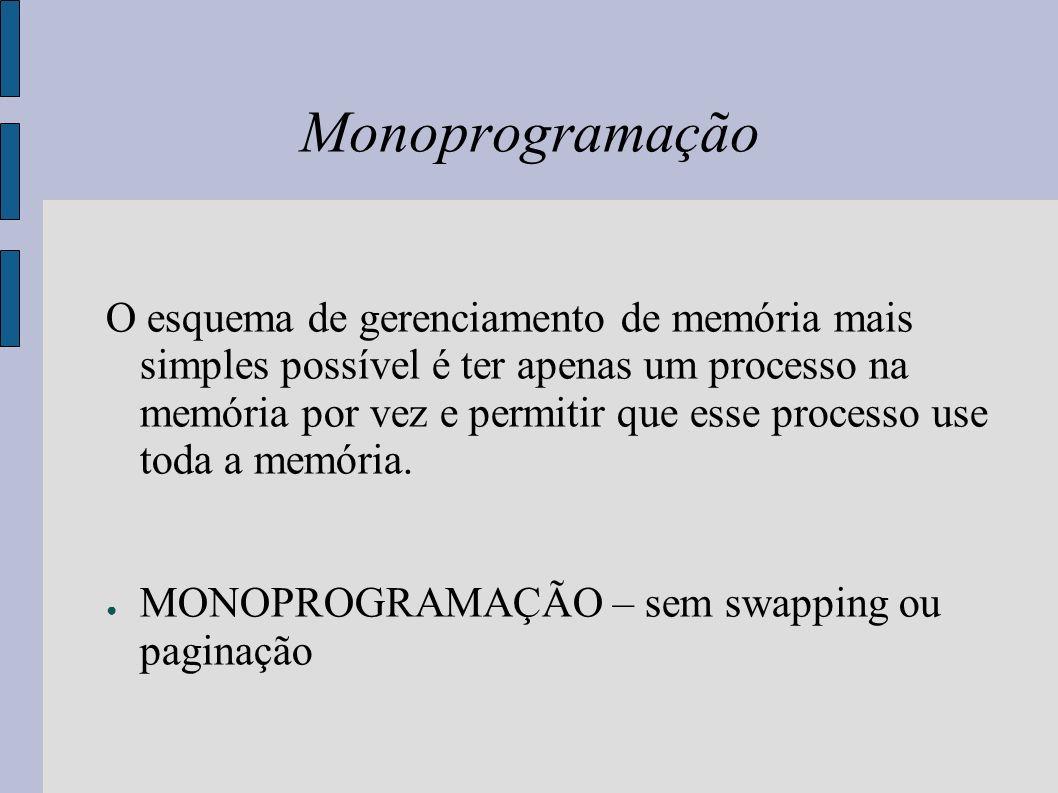 Multiprogramação Mais de um processo na memória ao mesmo tempo.