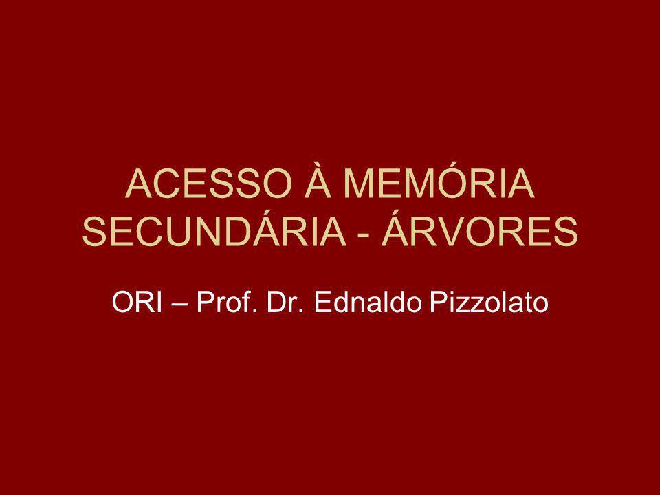 ACESSO À MEMÓRIA SECUNDÁRIA - ÁRVORES ORI – Prof. Dr. Ednaldo Pizzolato