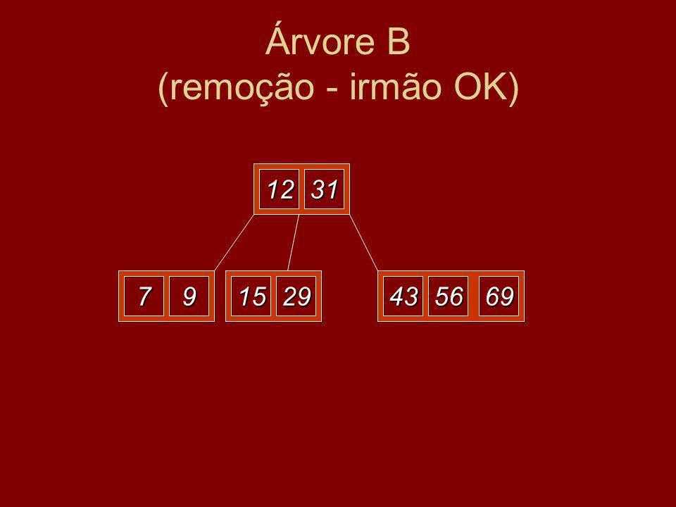 12 297915 31 695643 Árvore B (remoção - irmão OK)