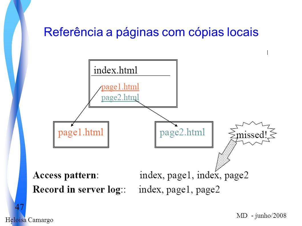 Heloisa Camargo 47 MD - junho/2008 Referência a páginas com cópias locais