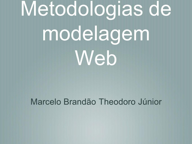 Metodologias de modelagem Web Marcelo Brandão Theodoro Júnior