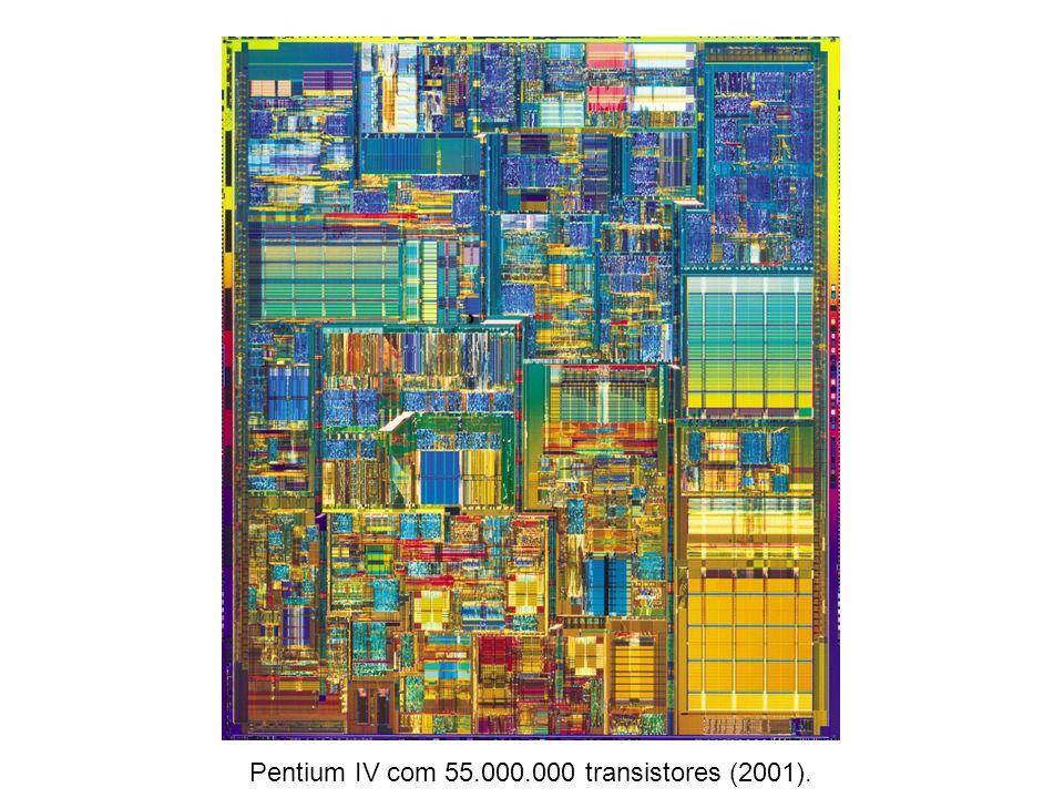 Pentium IV com 55.000.000 transistores (2001).