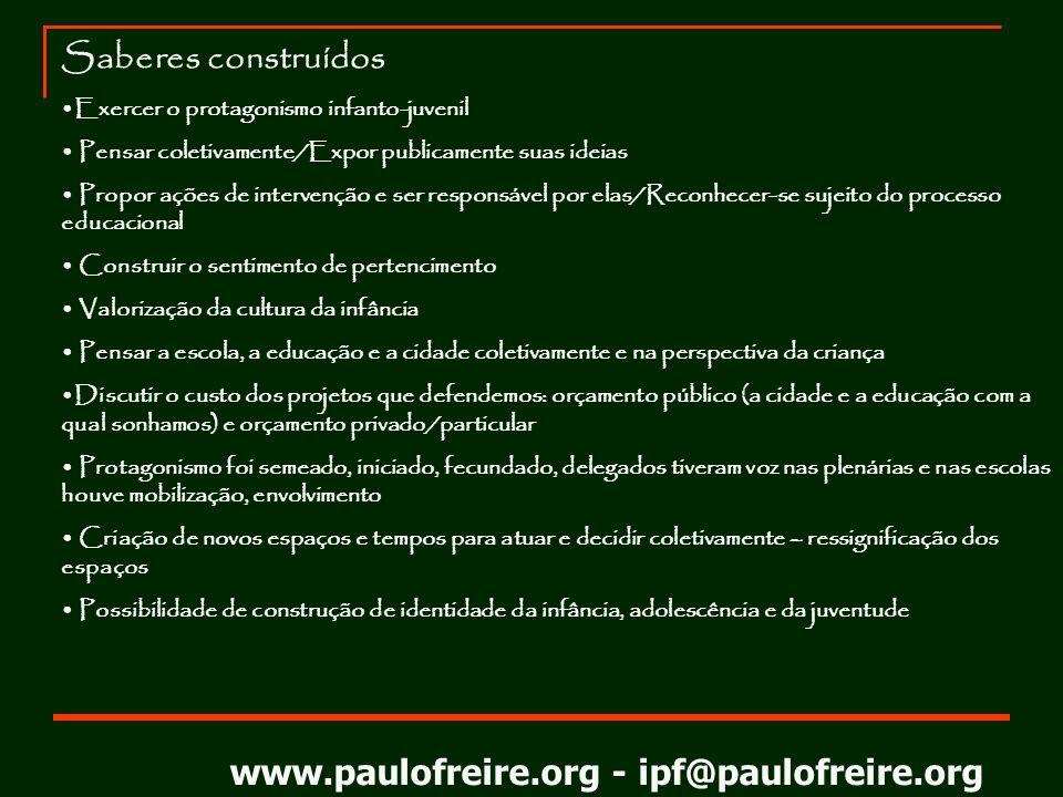 www.paulofreire.org - ipf@paulofreire.org