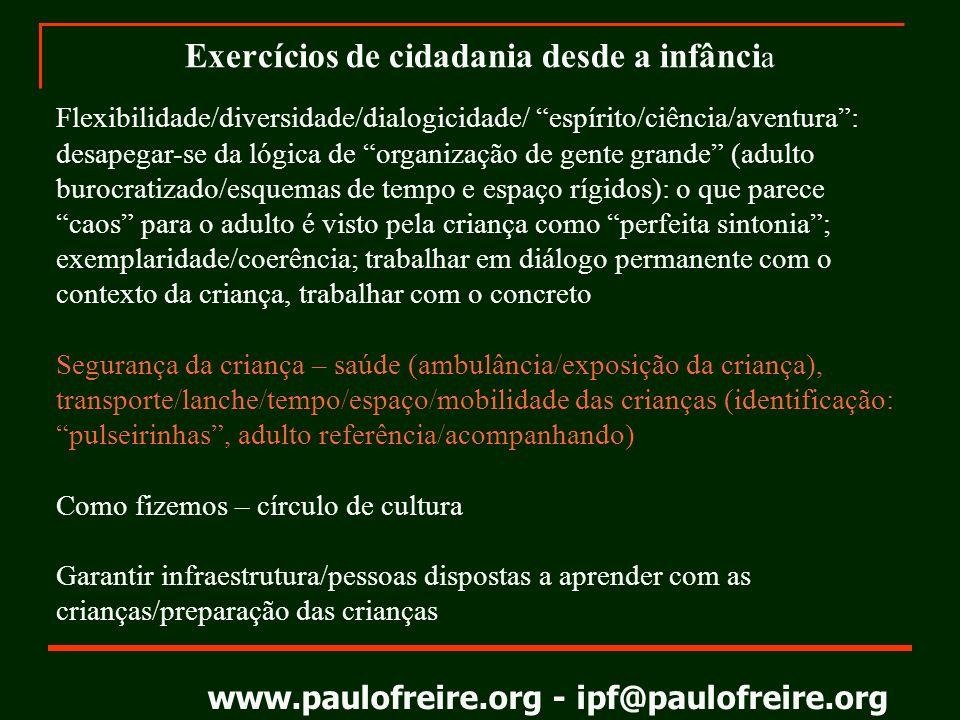 www.paulofreire.org - ipf@paulofreire.org PAULO FREIRE 1921-1997 Eu gosto de ser gente precisamente por causa da minha responsabilidade ética e política em face do mundo e dos outros.