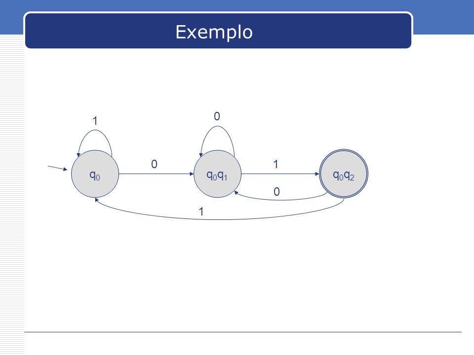 Exemplo q0q0 q0q1q0q1 q0q2q0q2 01 1 0 0 1