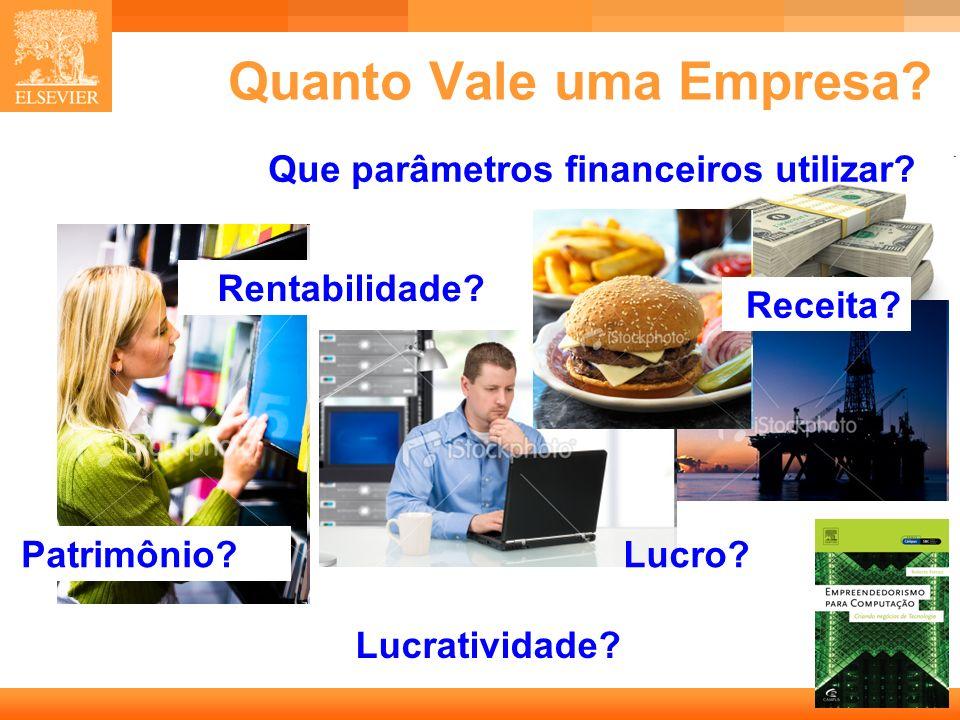 20 Capa Quanto Vale uma Empresa? Que parâmetros financeiros utilizar? Lucratividade? Rentabilidade? Receita? Patrimônio?Lucro?