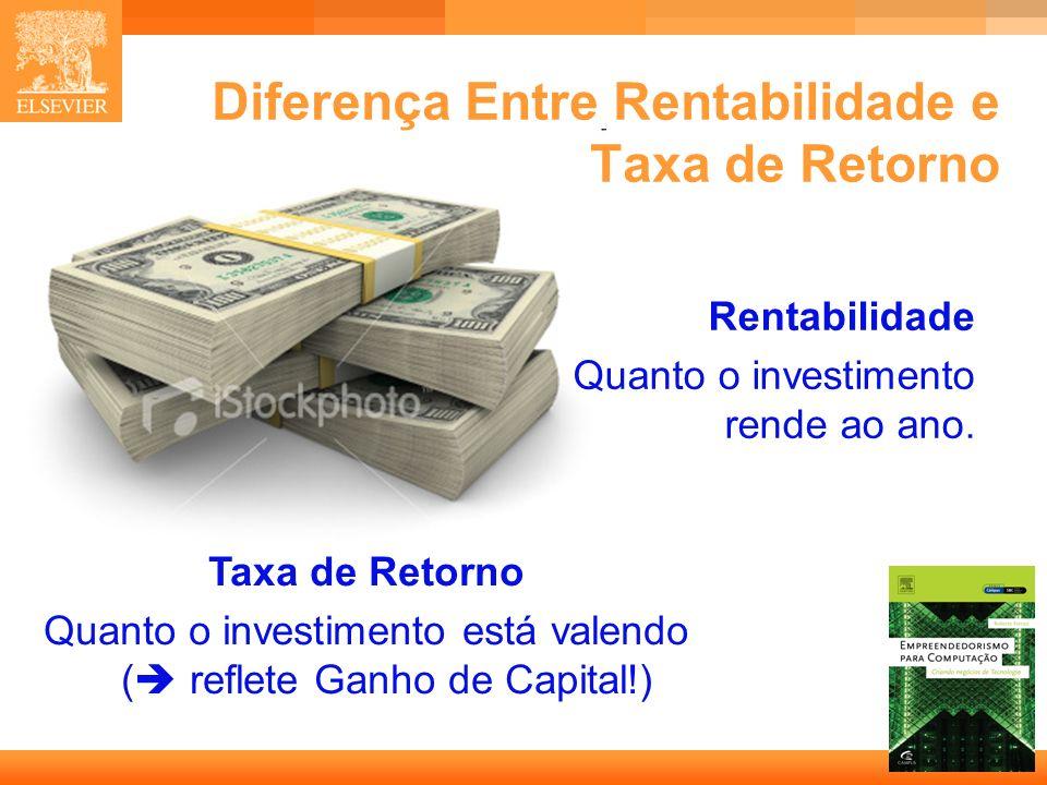 31 Capa Diferença Entre Rentabilidade e Taxa de Retorno Taxa de Retorno Quanto o investimento está valendo ( reflete Ganho de Capital!) Rentabilidade