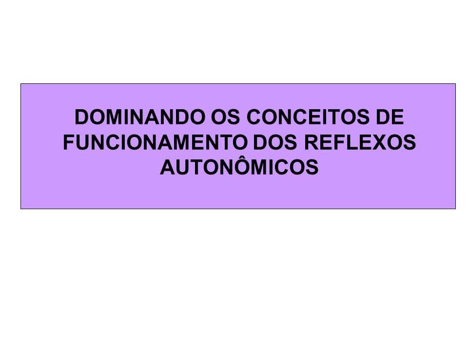 DOMINANDO OS CONCEITOS DE FUNCIONAMENTO DOS REFLEXOS AUTONÔMICOS