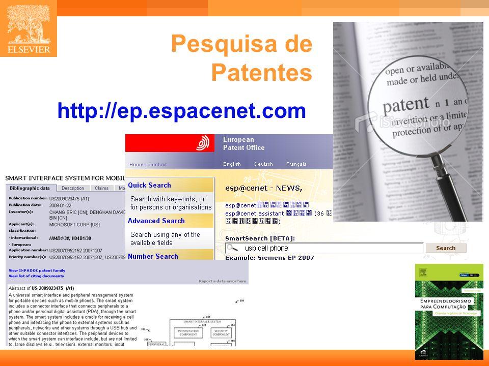 11 Capa Pesquisa de Patentes http://ep.espacenet.com
