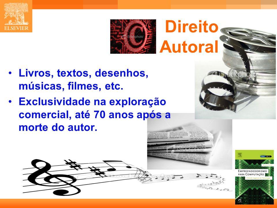21 Capa Direito Autoral Livros, textos, desenhos, músicas, filmes, etc.