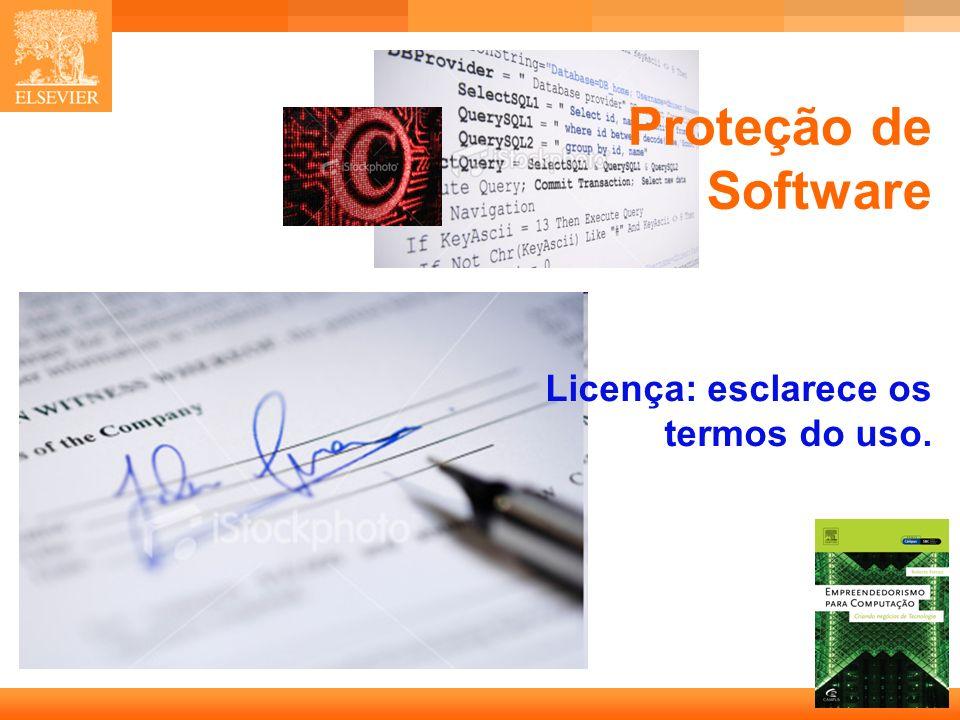 25 Capa Proteção de Software Licença: esclarece os termos do uso.