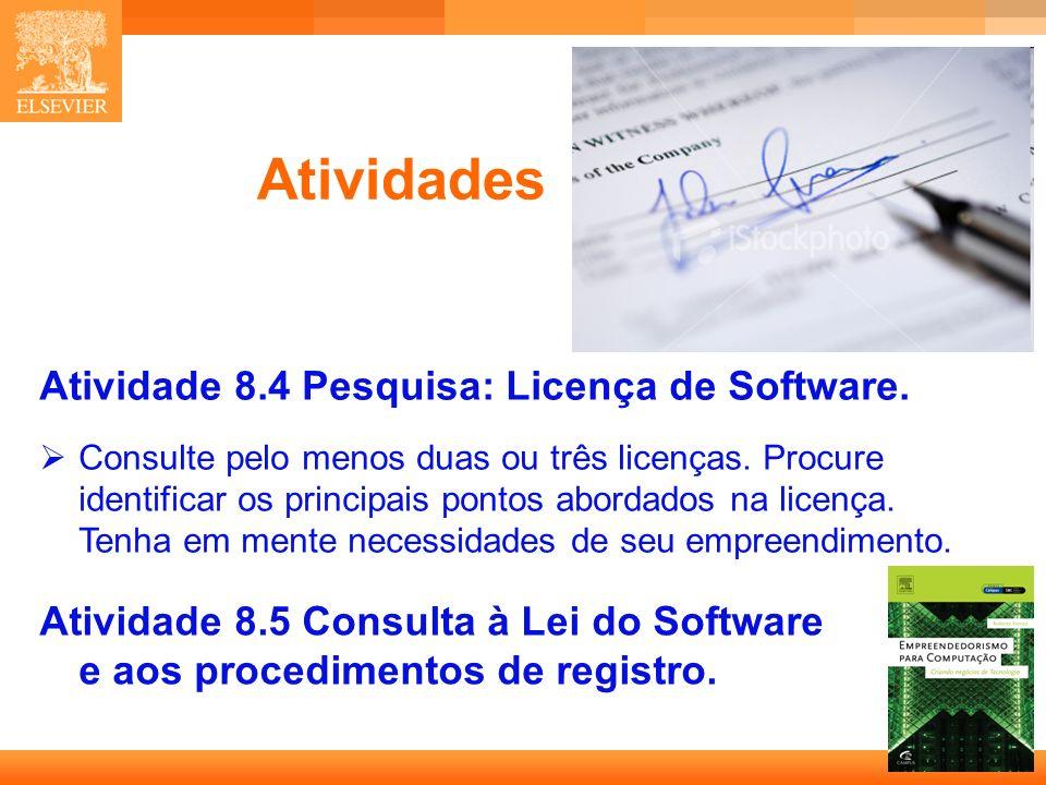 26 Capa Atividades Atividade 8.4 Pesquisa: Licença de Software.