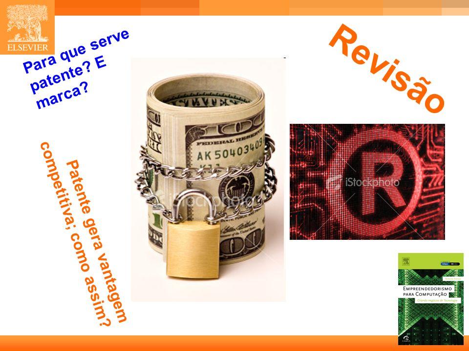 28 Capa Patente gera vantagem competitiva; como assim? Para que serve patente? E marca? Revisão