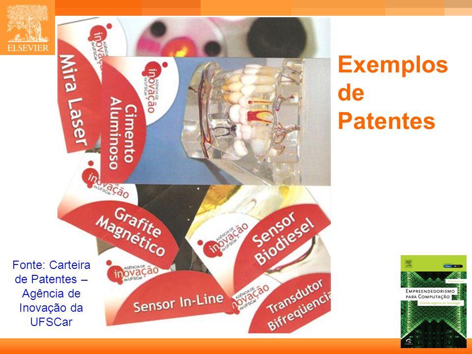 8 Capa Exemplos de Patentes Fonte: Carteira de Patentes – Agência de Inovação da UFSCar