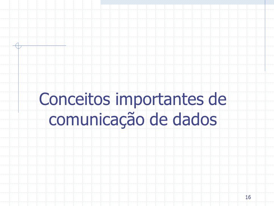 16 Conceitos importantes de comunicação de dados