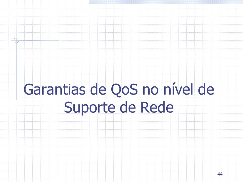 44 Garantias de QoS no nível de Suporte de Rede