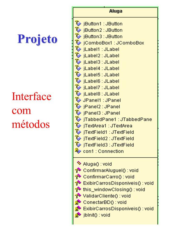 Projeto Interface com métodos