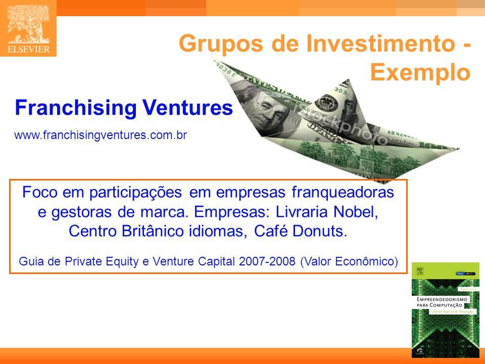 16 Capa Franchising Ventures www.franchisingventures.com.br Foco em participações em empresas franqueadoras e gestoras de marca. Empresas: Livraria No