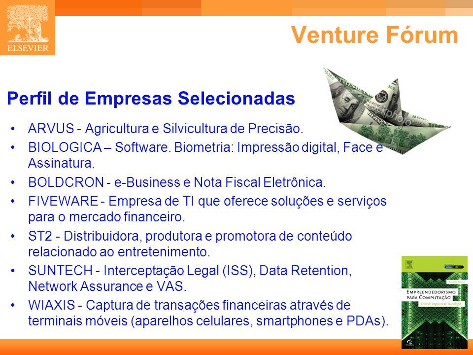 28 Capa Perfil de Empresas Selecionadas ARVUS - Agricultura e Silvicultura de Precisão. BIOLOGICA – Software. Biometria: Impressão digital, Face e Ass