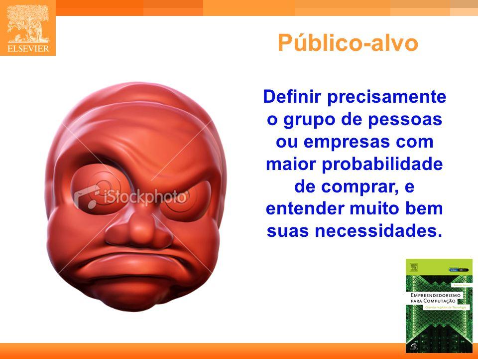 12 Capa Público-alvo Definir precisamente o grupo de pessoas ou empresas com maior probabilidade de comprar, e entender muito bem suas necessidades.