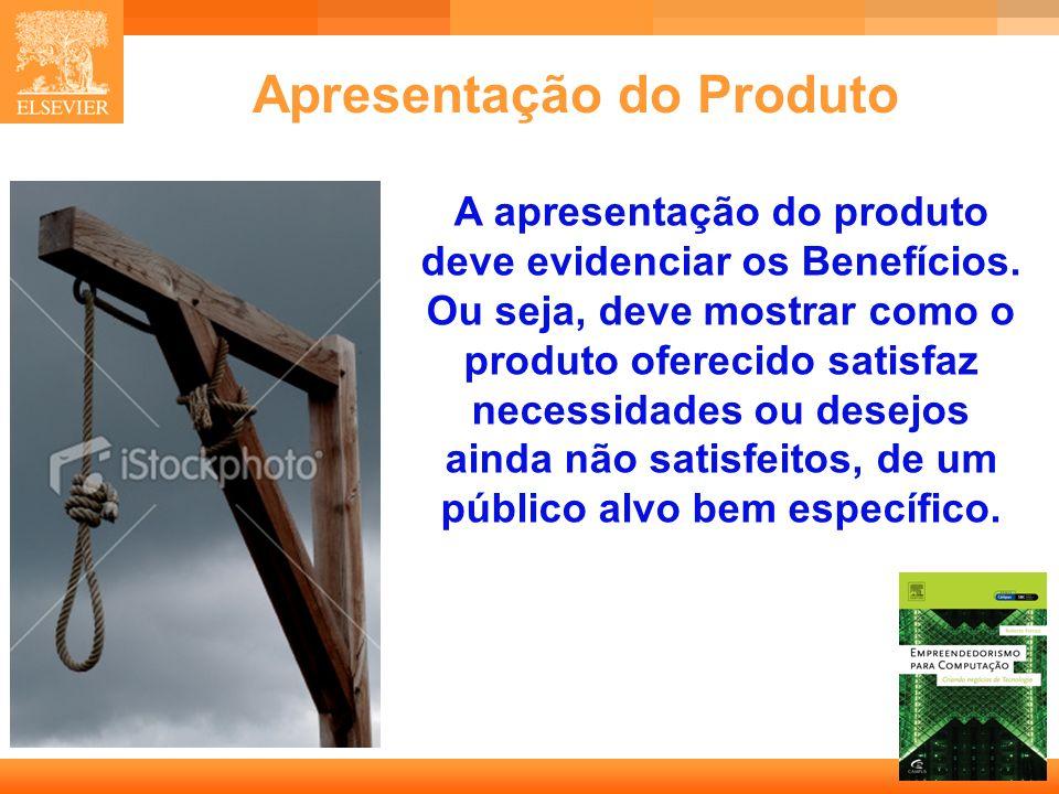 24 Capa Apresentação do Produto A apresentação do produto deve evidenciar os Benefícios. Ou seja, deve mostrar como o produto oferecido satisfaz neces