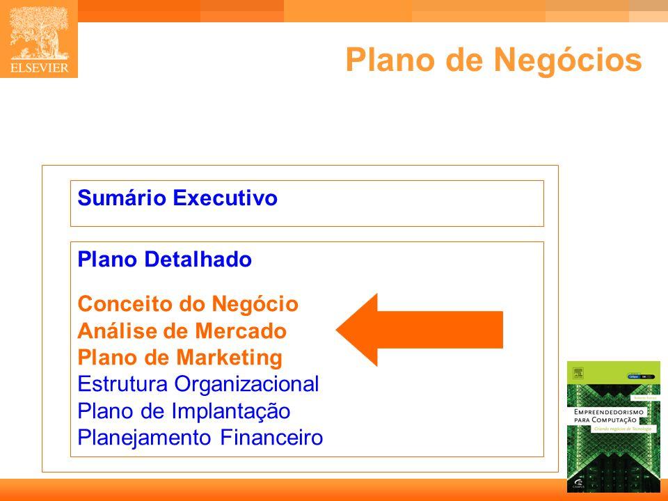 4 Capa Plano de Negócios Sumário Executivo Plano Detalhado Conceito do Negócio Análise de Mercado Plano de Marketing Estrutura Organizacional Plano de