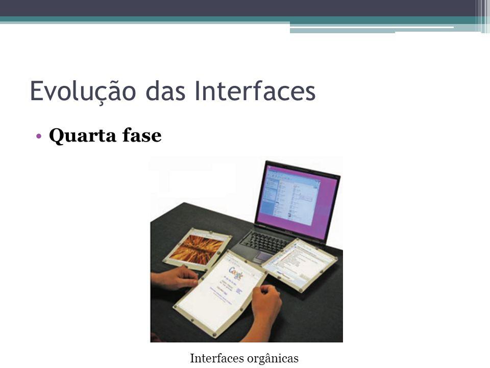 Evolução das Interfaces Quarta fase Interfaces orgânicas