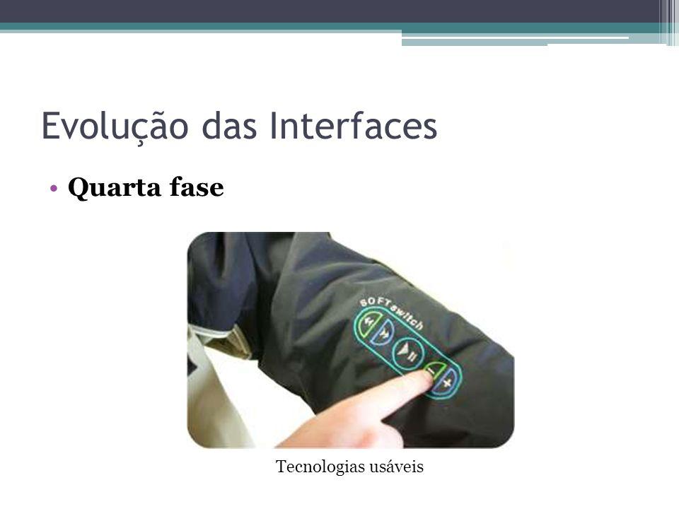Evolução das Interfaces Quarta fase Tecnologias usáveis