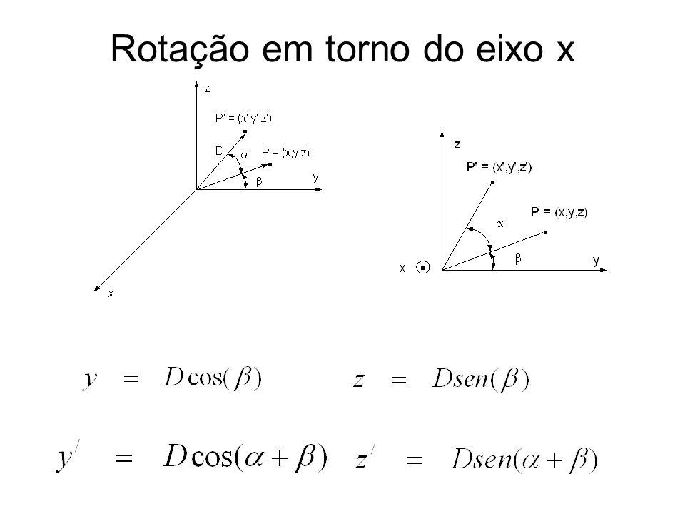 Rotação em torno do eixo x