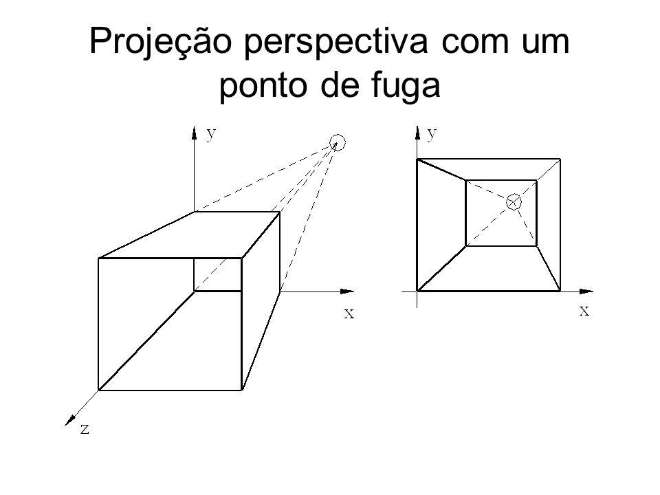 Projeção perspectiva com um ponto de fuga